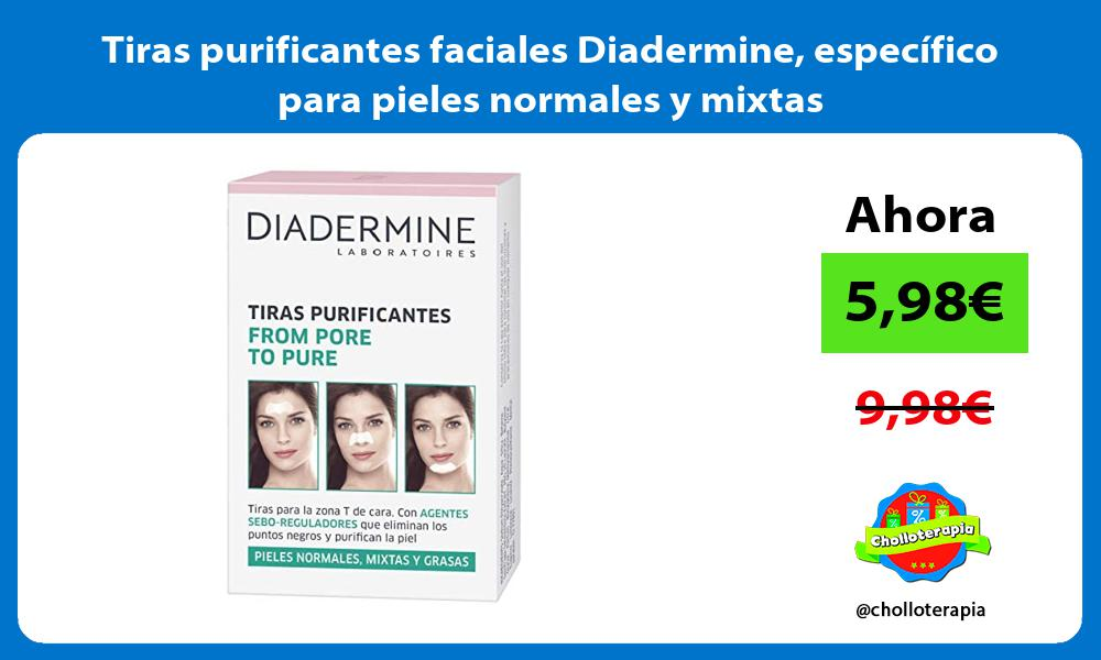 Tiras purificantes faciales Diadermine específico para pieles normales y mixtas