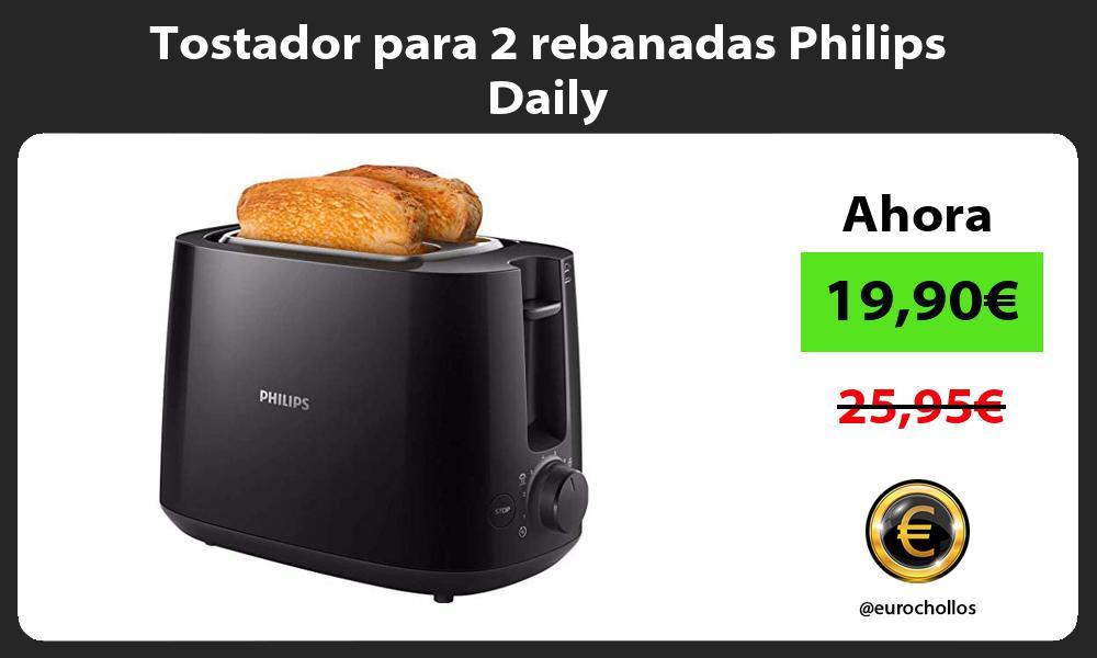 Tostador para 2 rebanadas Philips Daily