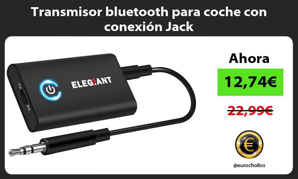 Transmisor bluetooth para coche con conexión Jack