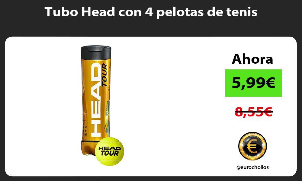 Tubo Head con 4 pelotas de tenis