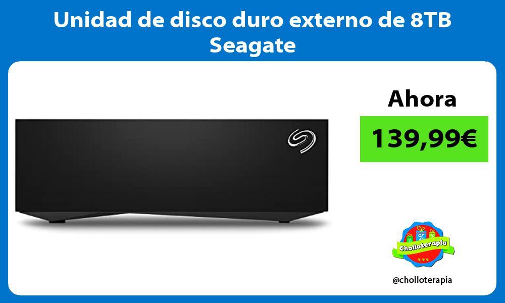 Unidad de disco duro externo de 8TB Seagate