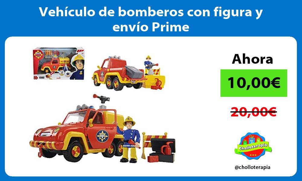 Vehículo de bomberos con figura y envío Prime