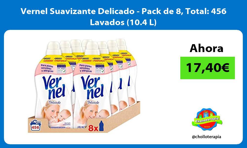 Vernel Suavizante Delicado Pack de 8 Total 456 Lavados 10 4 L