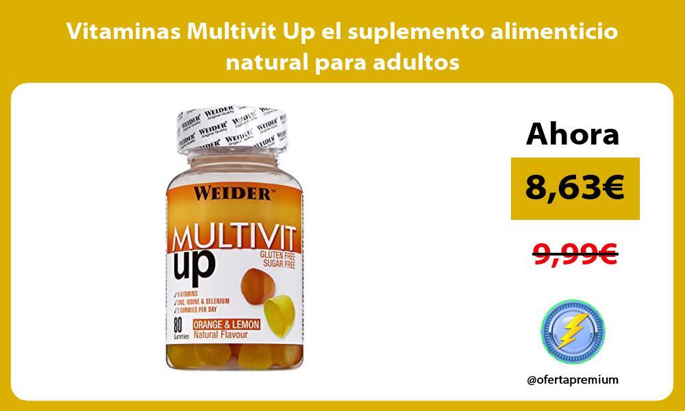 Vitaminas Multivit Up el suplemento alimenticio natural para adultos