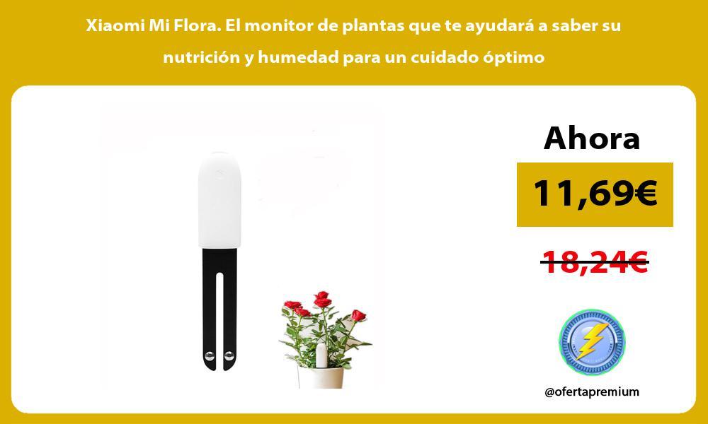Xiaomi Mi Flora El monitor de plantas que te ayudará a saber su nutrición y humedad para un cuidado óptimo