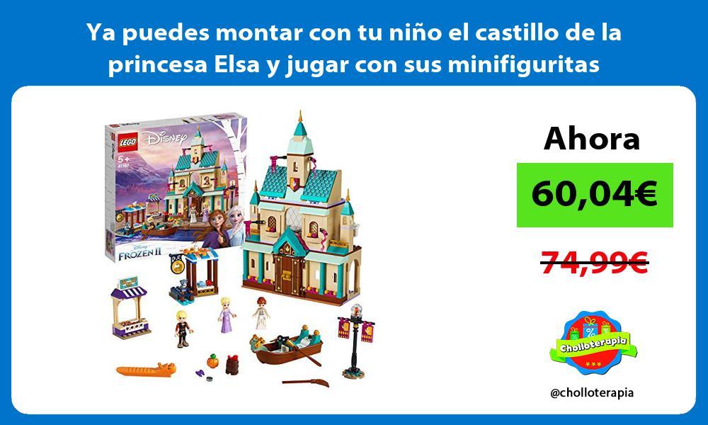 Ya puedes montar con tu niño el castillo de la princesa Elsa y jugar con sus minifiguritas
