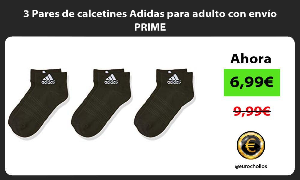 3 Pares de calcetines Adidas para adulto con envío PRIME
