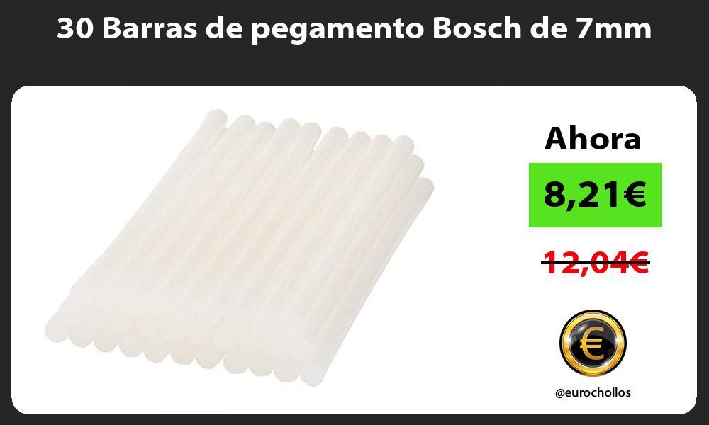 30 Barras de pegamento Bosch de 7mm