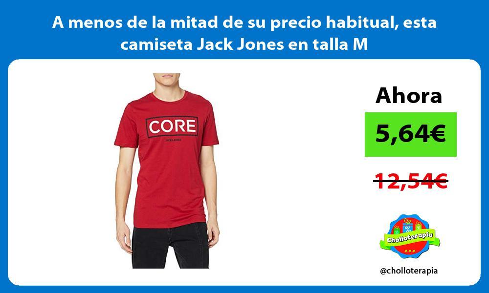 A menos de la mitad de su precio habitual esta camiseta Jack Jones en talla M