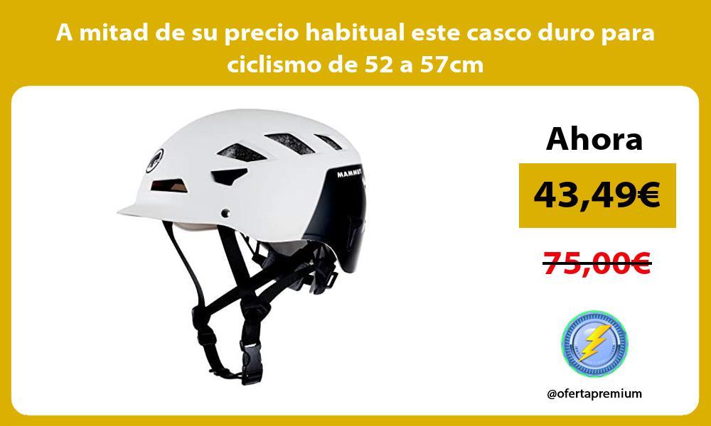 A mitad de su precio habitual este casco duro para ciclismo de 52 a 57cm