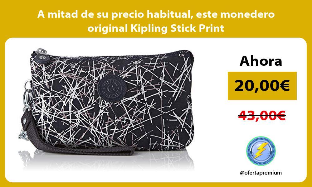 A mitad de su precio habitual este monedero original Kipling Stick Print