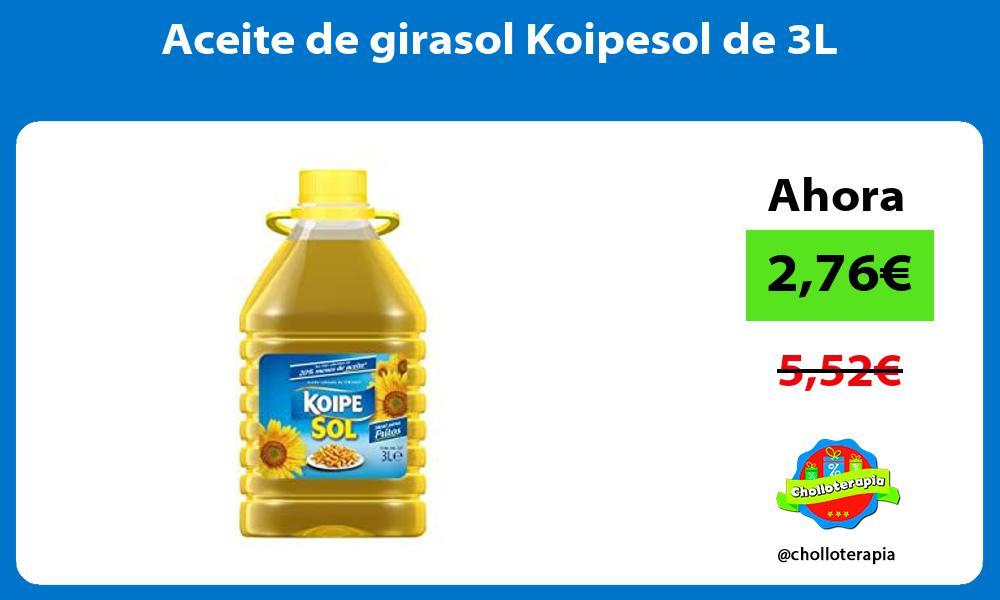Aceite de girasol Koipesol de 3L