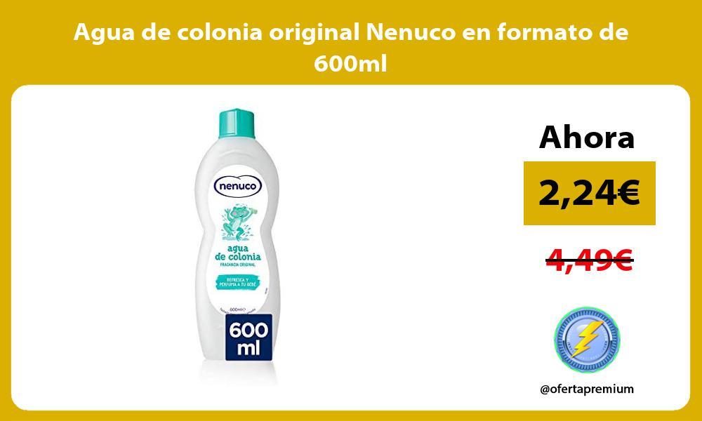 Agua de colonia original Nenuco en formato de 600ml