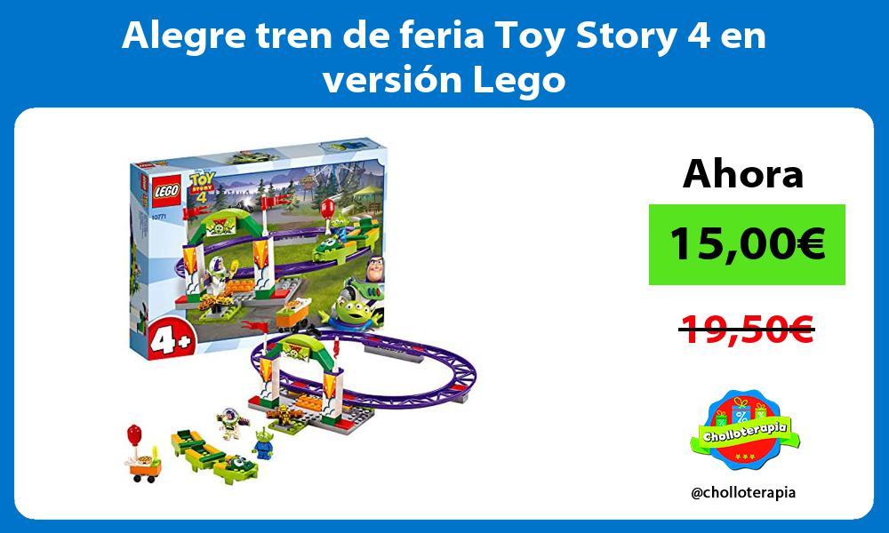 Alegre tren de feria Toy Story 4 en versión Lego