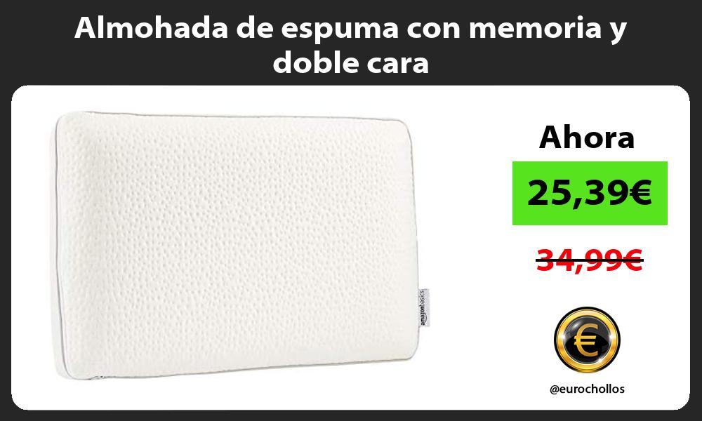 Almohada de espuma con memoria y doble cara