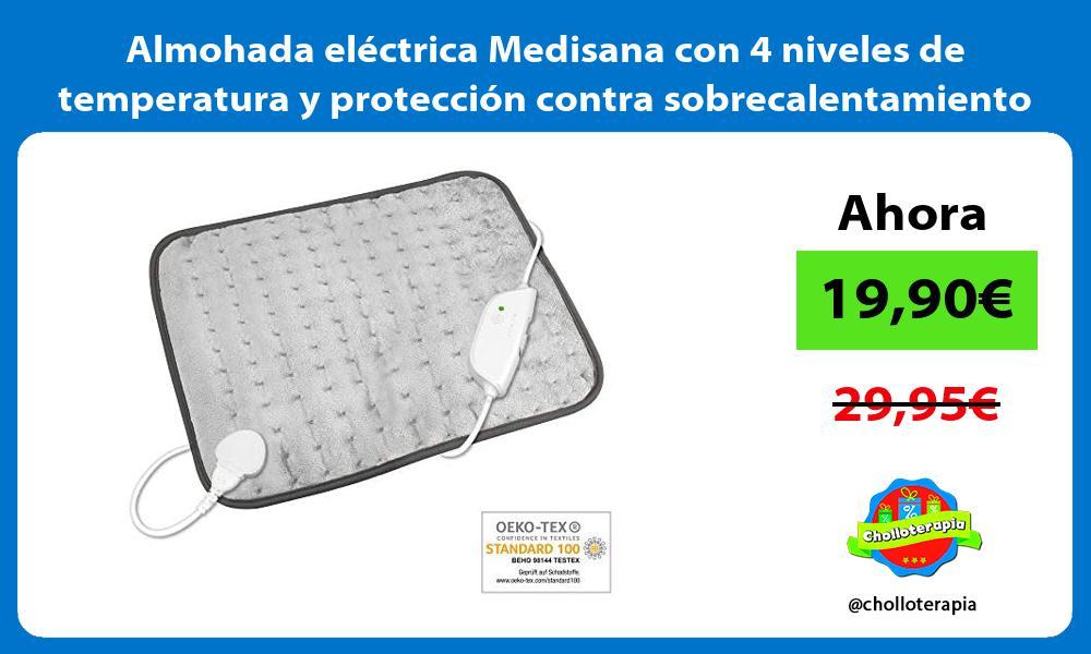 Almohada eléctrica Medisana con 4 niveles de temperatura y protección contra sobrecalentamiento