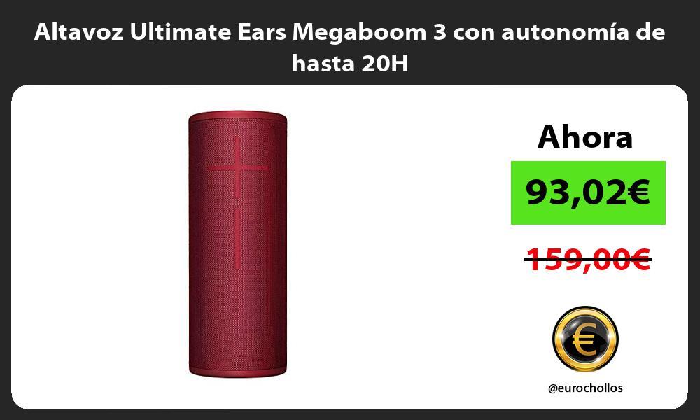 Altavoz Ultimate Ears Megaboom 3 con autonomía de hasta 20H