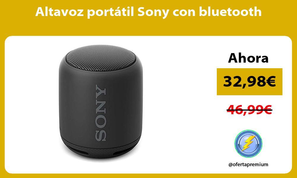 Altavoz portátil Sony con bluetooth