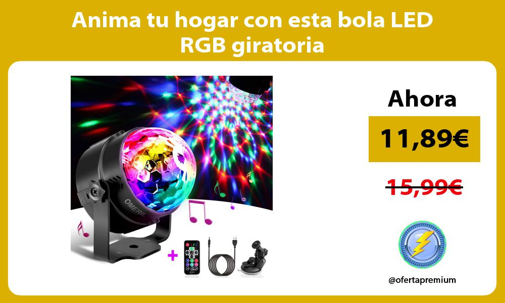 Anima tu hogar con esta bola LED RGB giratoria
