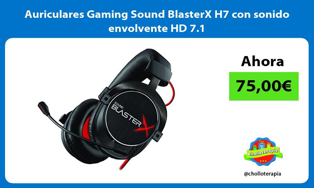 Auriculares Gaming Sound BlasterX H7 con sonido envolvente HD 7 1