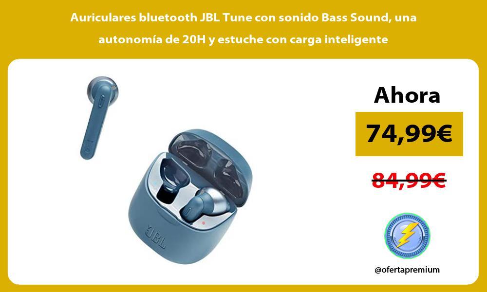 Auriculares bluetooth JBL Tune con sonido Bass Sound una autonomía de 20H y estuche con carga inteligente