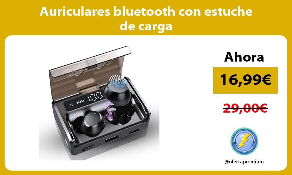 Auriculares bluetooth con estuche de carga