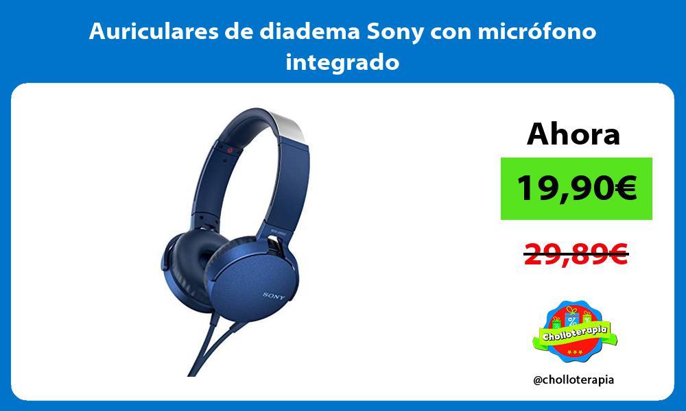 Auriculares de diadema Sony con micrófono integrado