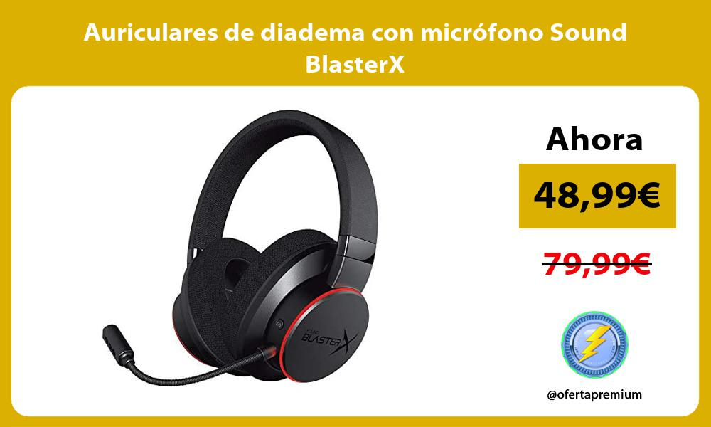 Auriculares de diadema con micrófono Sound BlasterX