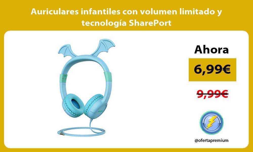 Auriculares infantiles con volumen limitado y tecnología SharePort