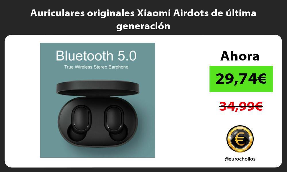 Auriculares originales Xiaomi Airdots de última generación