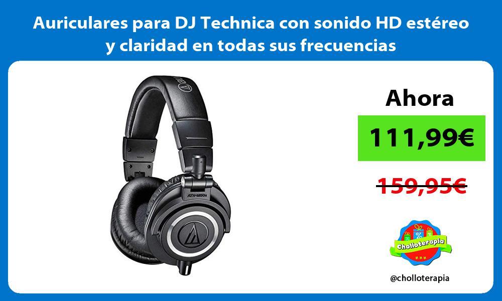 Auriculares para DJ Technica con sonido HD estéreo y claridad en todas sus frecuencias