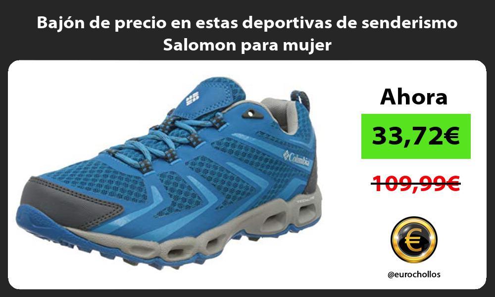 Bajón de precio en estas deportivas de senderismo Salomon para mujer