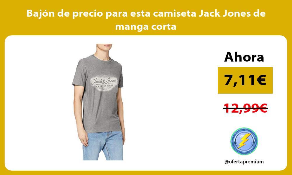 Bajón de precio para esta camiseta Jack Jones de manga corta