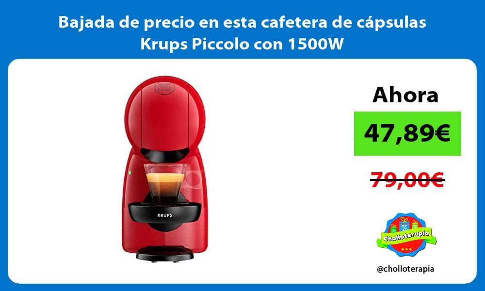 Bajada de precio en esta cafetera de cápsulas Krups Piccolo con 1500W