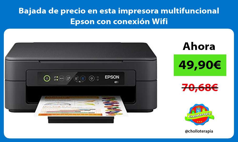 Bajada de precio en esta impresora multifuncional Epson con conexión Wifi