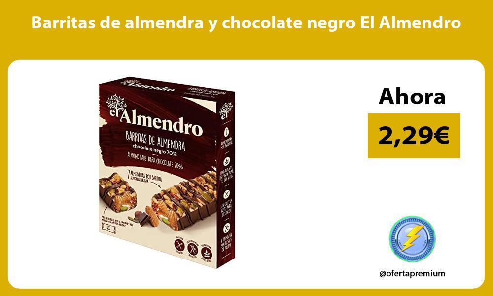 Barritas de almendra y chocolate negro El Almendro
