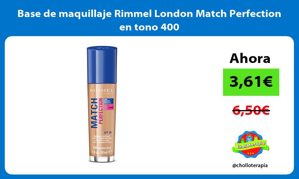 Base de maquillaje Rimmel London Match Perfection en tono 400