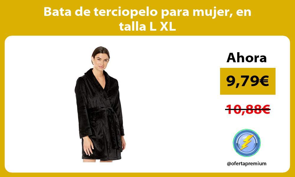 Bata de terciopelo para mujer en talla L XL