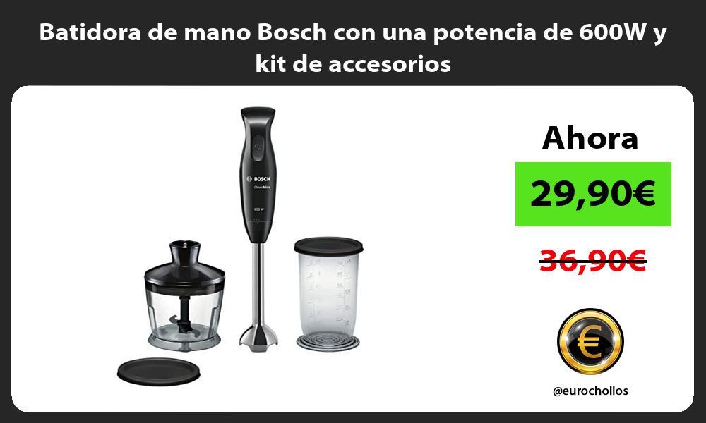 Batidora de mano Bosch con una potencia de 600W y kit de accesorios