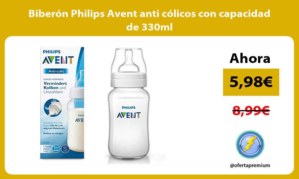Biberón Philips Avent anti cólicos con capacidad de 330ml