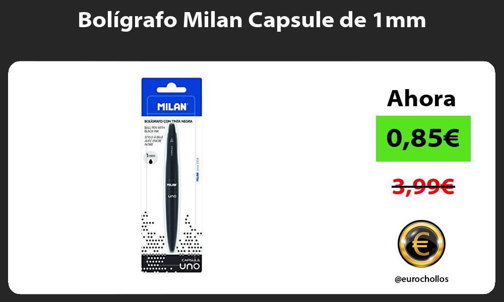 Bolígrafo Milan Capsule de 1mm
