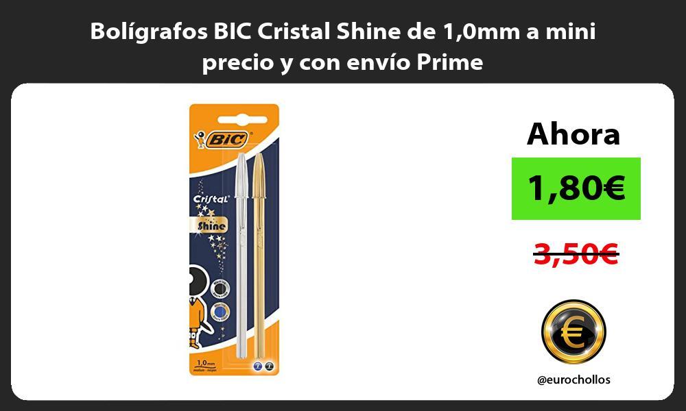 Bolígrafos BIC Cristal Shine de 10mm a mini precio y con envío Prime