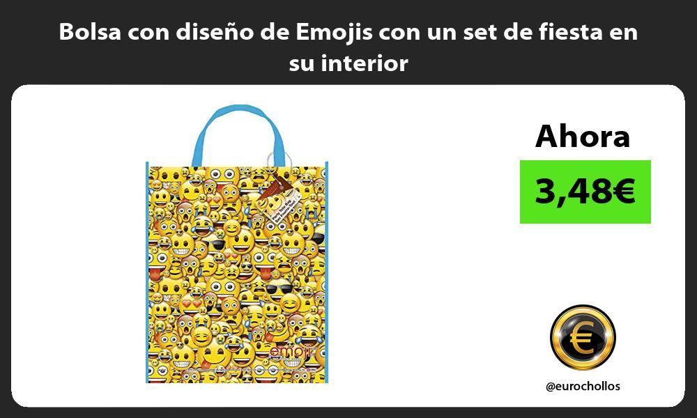 Bolsa con diseño de Emojis con un set de fiesta en su interior