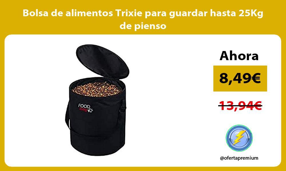Bolsa de alimentos Trixie para guardar hasta 25Kg de pienso