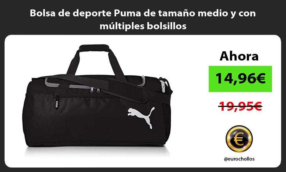 Bolsa de deporte Puma de tamaño medio y con múltiples bolsillos