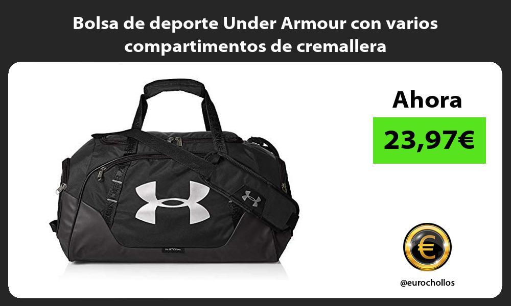 Bolsa de deporte Under Armour con varios compartimentos de cremallera