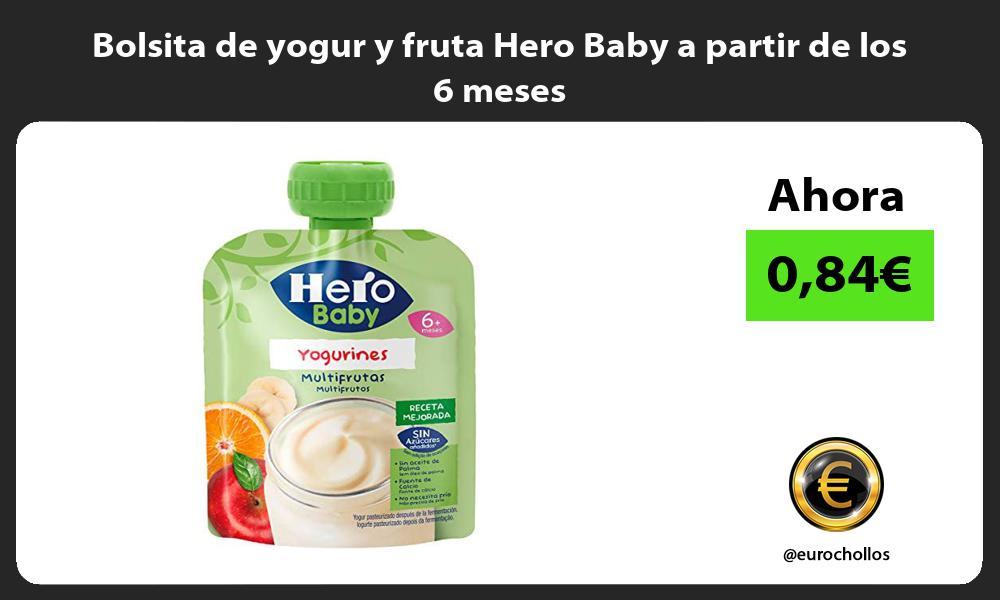 Bolsita de yogur y fruta Hero Baby a partir de los 6 meses