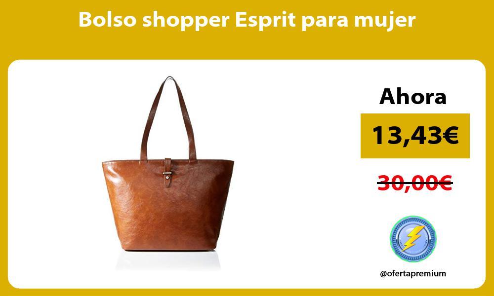 Bolso shopper Esprit para mujer