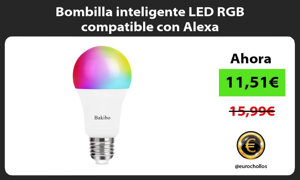 Bombilla inteligente LED RGB compatible con Alexa