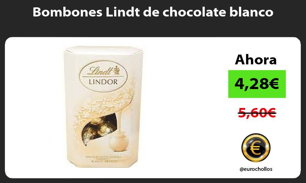Bombones Lindt de chocolate blanco